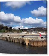 View From The Cobb - Lyme Regis Canvas Print