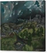View Of Toledo Canvas Print