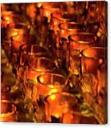 Votive Candles. Canvas Print