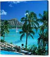 Waikiki And Diamond Head Canvas Print