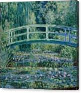 Water Lilies And Japanese Bridge Canvas Print