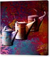 3 Watering Cans No.1 Canvas Print