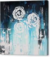 3 White Roses Canvas Print