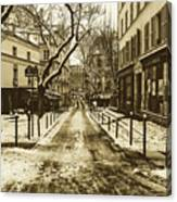 Winter In Paris Canvas Print
