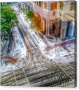 Winter Storm Passing Through Charlotte North Carolina Canvas Print