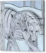 3 Wolves Canvas Print