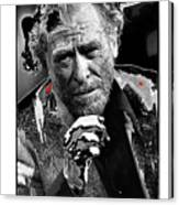 Writer Charles Bukowski On Tv Show Apostrophes September 1978-2013 Canvas Print