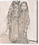 Young Comanche Girls Canvas Print