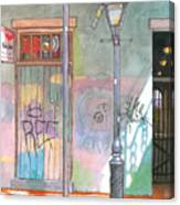 30  French Quarter Graffiti  Canvas Print