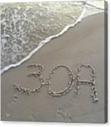 30a Beach Canvas Print