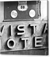 Route 66 Cars Cafes Restaurants Hotels Motels Canvas Print