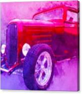 32 Highboy Watercolour Deuce On Acid Canvas Print