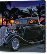 33 Ford On The Mexico Beach Canvas Print