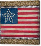 33 Star American Flag. Painting Of Antique Design Canvas Print