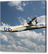 Flybe Bombardier Dash 8 Q400 Canvas Print