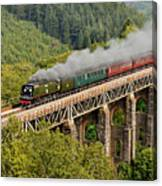 34067 Tangmere Crossing St Pinnock Viaduct. Canvas Print