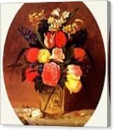 bs-flo- James Henry Wright- Flower Still Life James Henry Wright Canvas Print