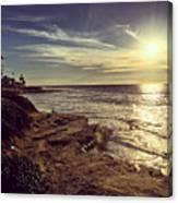 Sunset On La Jolla Beach, California, Usa  Canvas Print