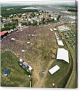 Bonnaroo Music Festival Aerial Photography Canvas Print