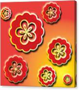 3d Digital Flowers Canvas Print