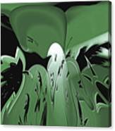 3d Green Abstract Canvas Print