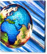 3d Render Of Planet Earth 10 Canvas Print