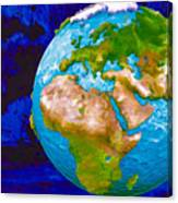 3d Render Of Planet Earth 6 Canvas Print