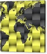 3d World Map Composition 4 Canvas Print