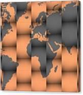 3d World Map Composition Canvas Print