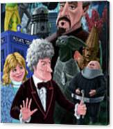 3rd Dr Who And Friends Canvas Print
