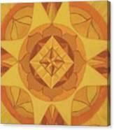 3rd Mandala - Solar Plexus Chakra Canvas Print