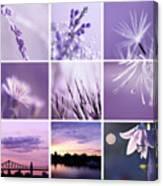3x3 Purple Canvas Print