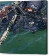 A Navy Seal Combat Swimmer Canvas Print