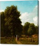 A View Of The The Haarlemmerhout Canvas Print