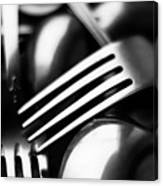 Abstract Black And White Forks Canvas Print