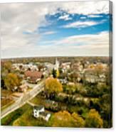 Aerial View Over White Rose City York Soth Carolina Canvas Print