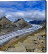 Aletsch Glacier, Switzerland Canvas Print