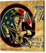 American Revolution Soldier General  Canvas Print