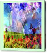 Angel In A Field Canvas Print