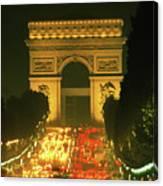 Arc De Triomphe In Paris 2 Canvas Print