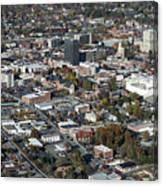 Asheville Aerial Photo Canvas Print