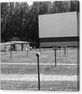 Auburn, Ny - Drive-in Theater Bw Canvas Print