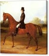 Barraud Henry Richard Paget Of Cropston Leicester On A Bay Hunter Henry Barraud Canvas Print