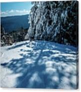 Beautiful Nature And Scenery Around Snowshoe Ski Resort In Cass  Canvas Print