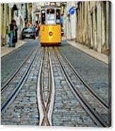 Bica Funicular, Lisbon, Portugal Canvas Print