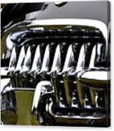 Black Corvette Canvas Print