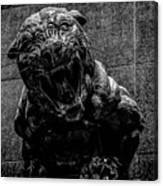 Black Panther Statue Canvas Print