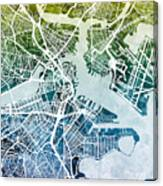 Boston Massachusetts Street Map Canvas Print