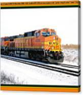 Burlington Northern Santa Fe Bnsf - Railimages@aol.com Canvas Print