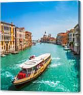 Canal Grande With Basilica Di Santa Maria Della Salute, Venice Canvas Print